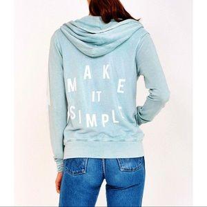LIKE NEW Sundry Make it Simple Zip Hoodie